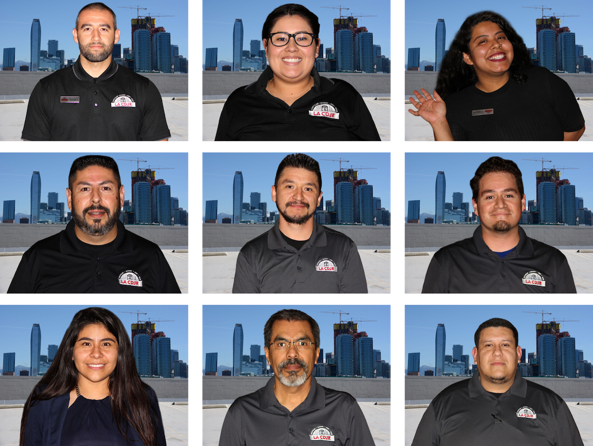 Example photo background replacement for dealership staff photos