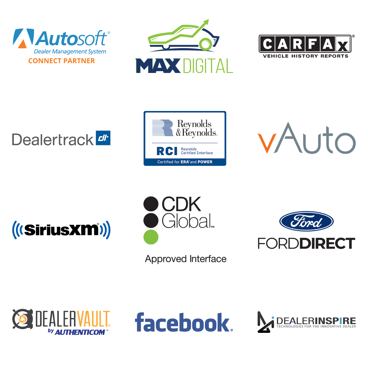 AutoUpLink Tech Integration Partner Logos
